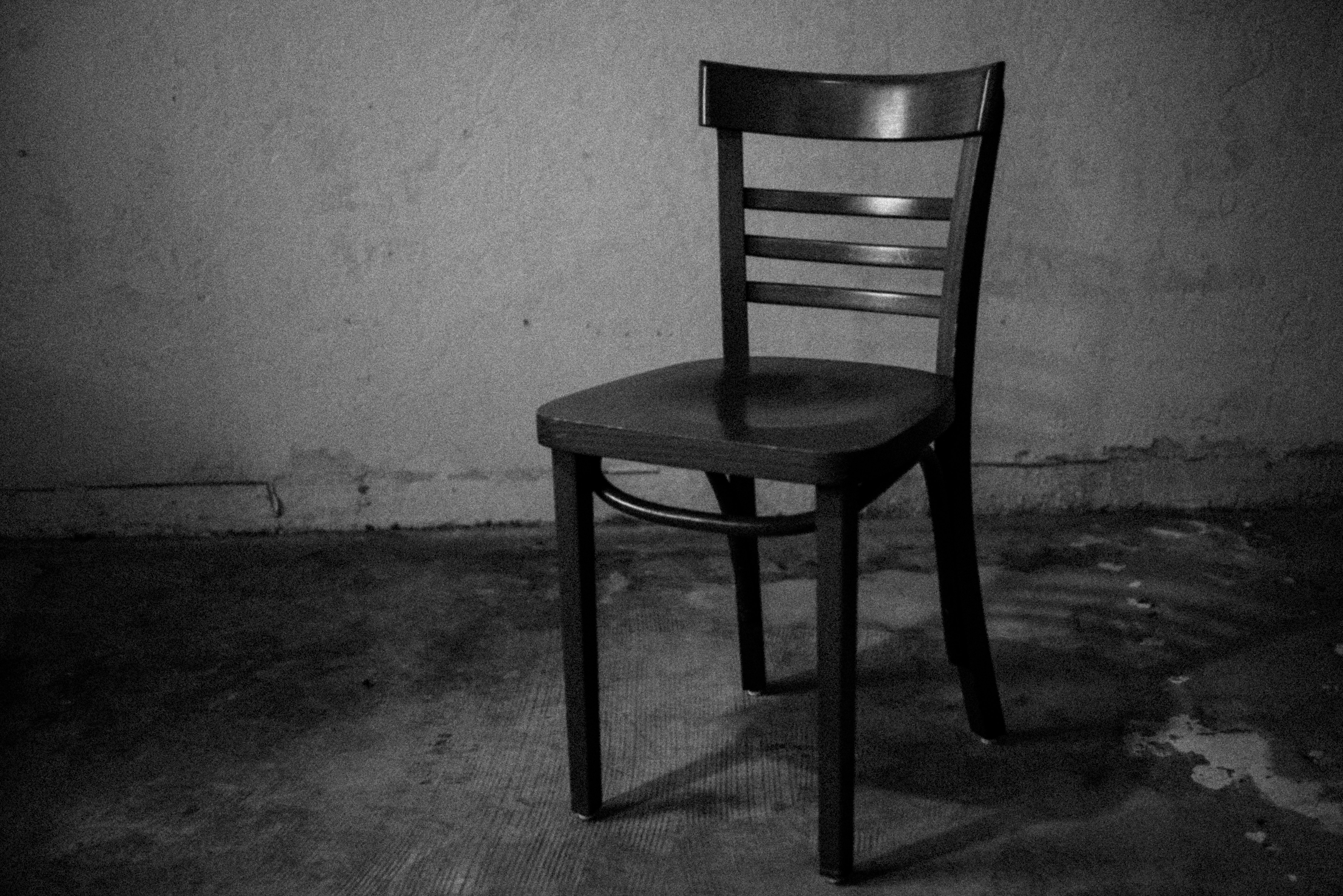 A Lonely Room And Empty Chair